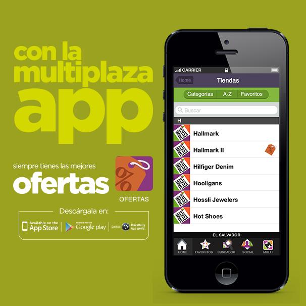 Con la Multiplaza app te enteras de las ofertas de tus tiendas favoritas. ¡Descárgala ya!