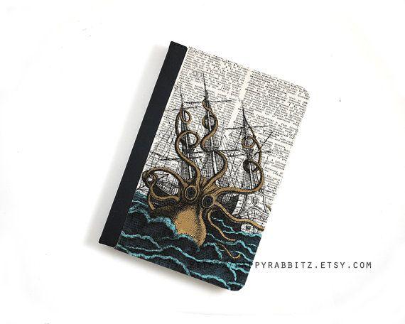 Steampunk Kraken Octopus iPad Air leather case  by happyrabbitz, $29.00