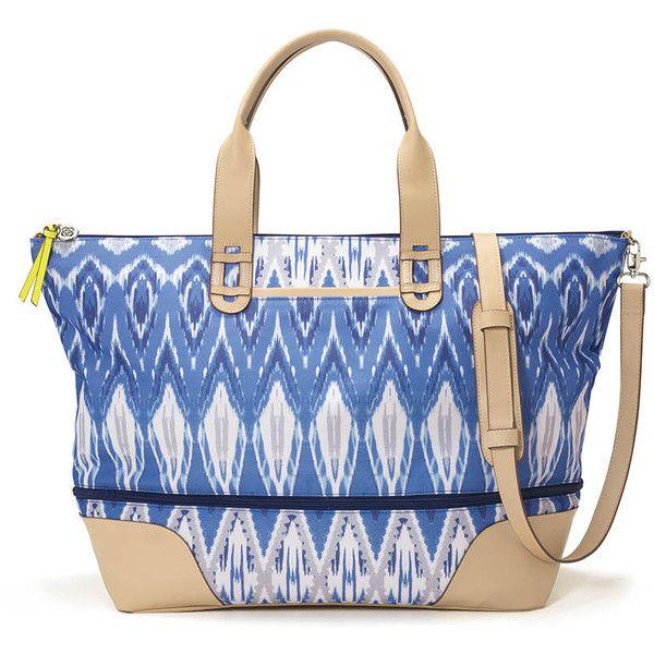 Stella & Dot Getaway (€125) ❤ liked on Polyvore featuring bags, handbags, blue purse, elephant purse, zipper purse, weekend travel bag i weekender bag