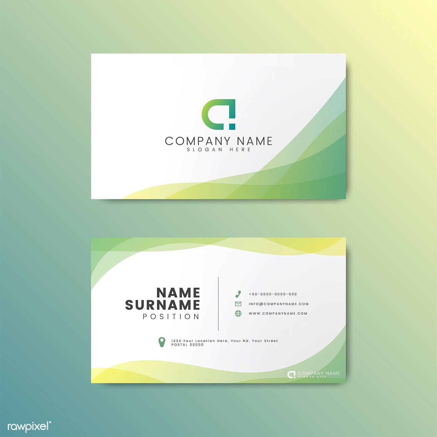 Download Premium Vector Of Minimal Modern Business Card Design Featuring Modern Business Cards Modern Business Cards Design Vector Business Card