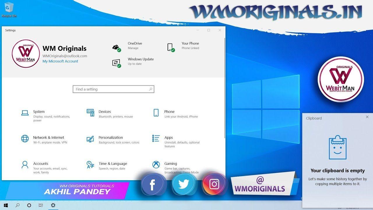 Get Windows 10 Light Theme Or Dark Theme How To Activate Wm Original Windows 10 Windows Windows 10 Tutorials