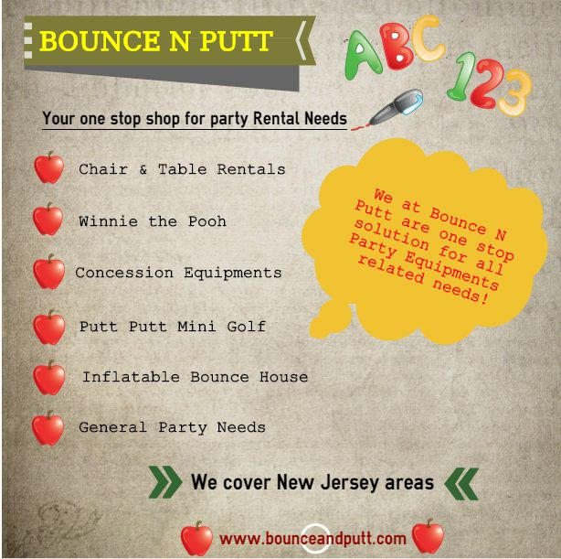Party Equipments On Rental Party Rentals Bounce House Wedding Rentals