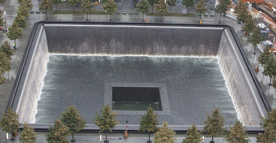 Ten years on: The 9/11 Memorial at Ground Zero revealed in pictures for the first time