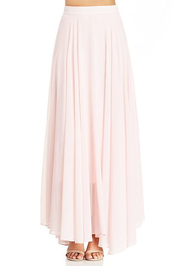 Lucy Paris Chiffon Maxi Skirt in Light Pink S - L | DAILYLOOK ...