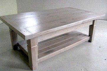 Thick Pine Coffee Table Farmhouse Coffee Tables Boston - Farm table boston
