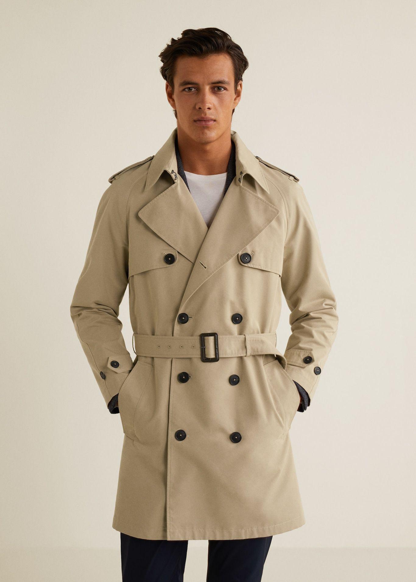 Classic cotton trench coat - Man | Mango Man Vietnam | Trench coat men, Trench  coat, Mens coats
