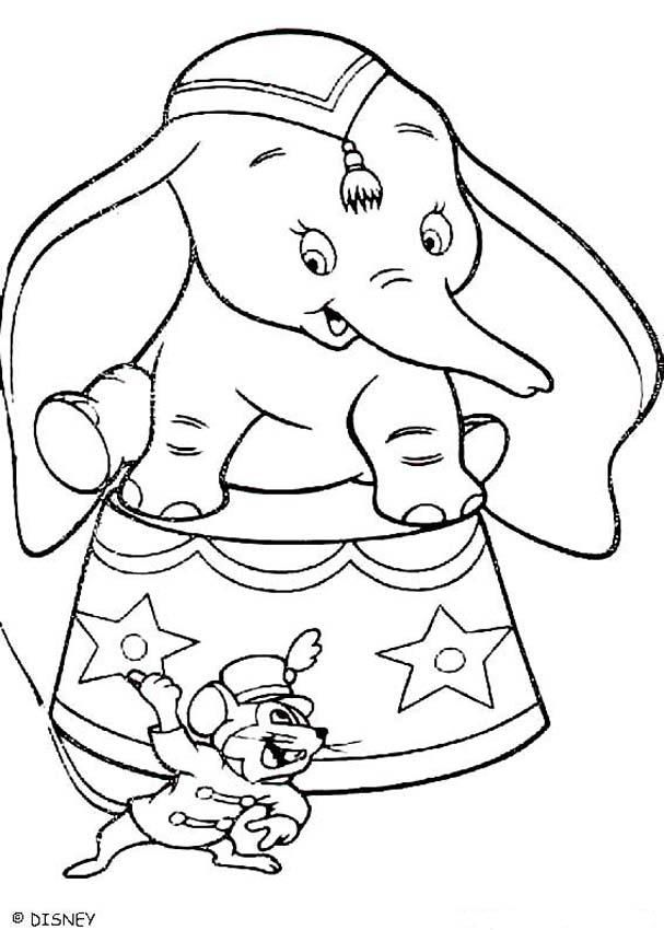 Cute Coloring Page Of The Disney Movie Dumbo Here Elephant With His Friends Tim