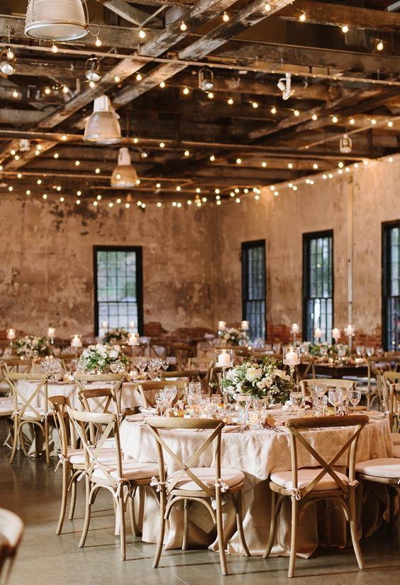 Photographer Natalie Franke Photography Elegantly Modern Wedding Reception With White And Champagne Colored Details