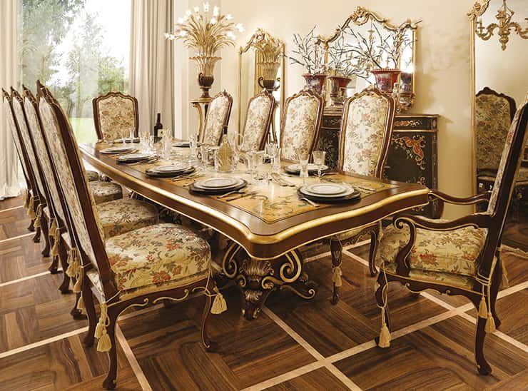 Classic Wood Dining Room Handmade Luxury Furniture Country