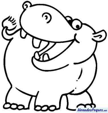 Los Hipopotamos Con Imagenes Hipopotamos Dibujo Actividades