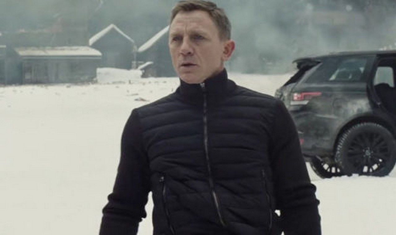 Spectre James Bond knitted sleeve Bomber Jacket Daniel Craig Navy Blue Bomber
