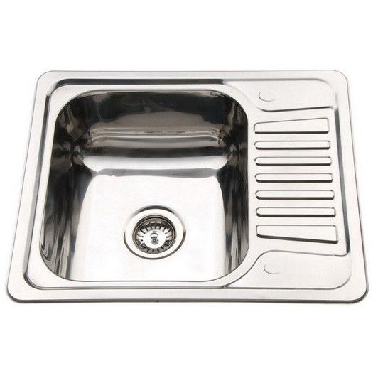 580mm Sink Small Kitchen Compact Stainless Steel