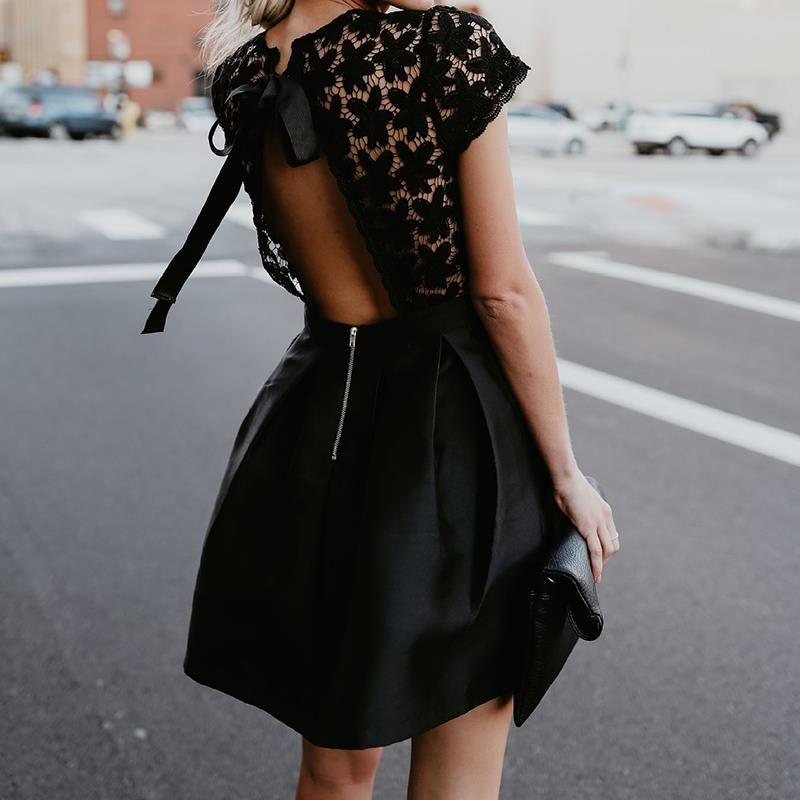 Robe tunique noir pas cher