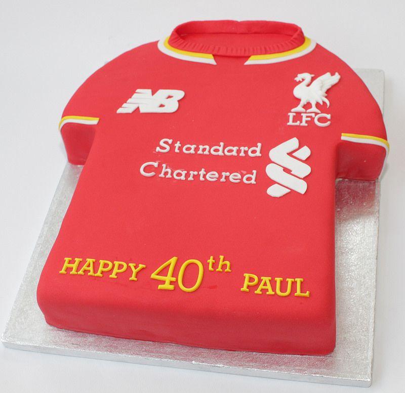 Th Liverpool Fc Shirt Liverpool Cake And Birthdays - Birthday cake shirt