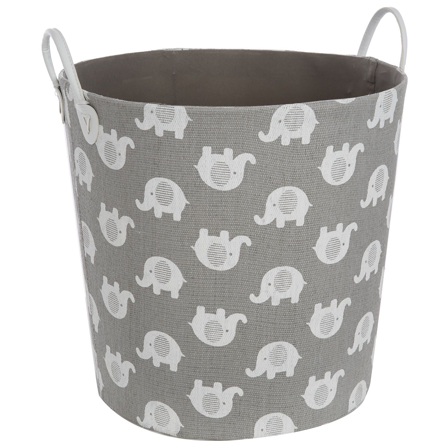 Quot Tm Designs Quot Grey Elephant Print Storage Basket Tk Maxx