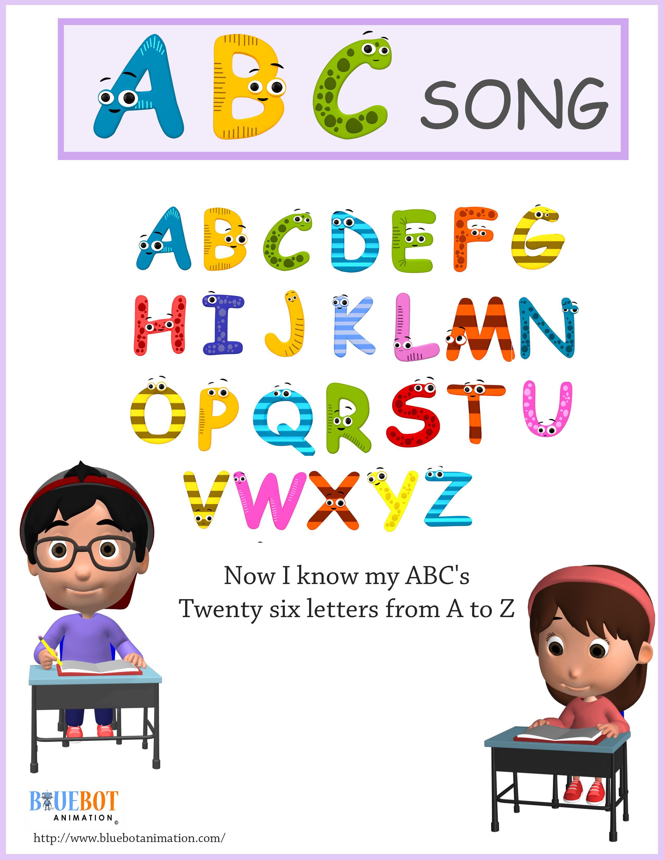Abc Nursery Rhyme Lyrics Free Printable Page
