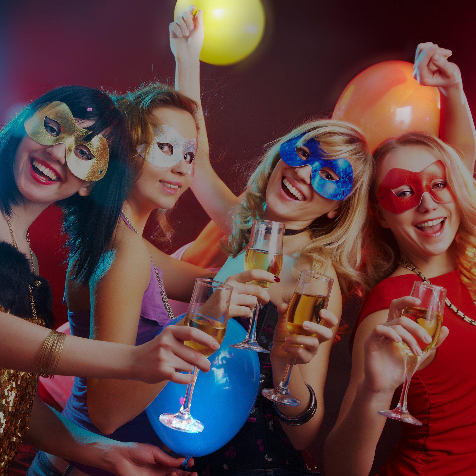 LED-Luftballons blinken 32er Pack 8 Farben Leuchtende Luftballons halten 1224 Stunden für im Dunkeln leuchtende Partyartikel Geburtstags- und Halloween-Partydekorationen ...