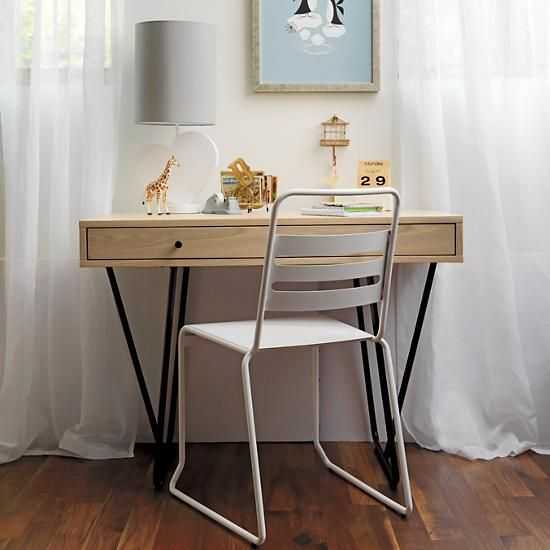 homeroom metal desk chair white the land of nod vincent s new rh pinterest com