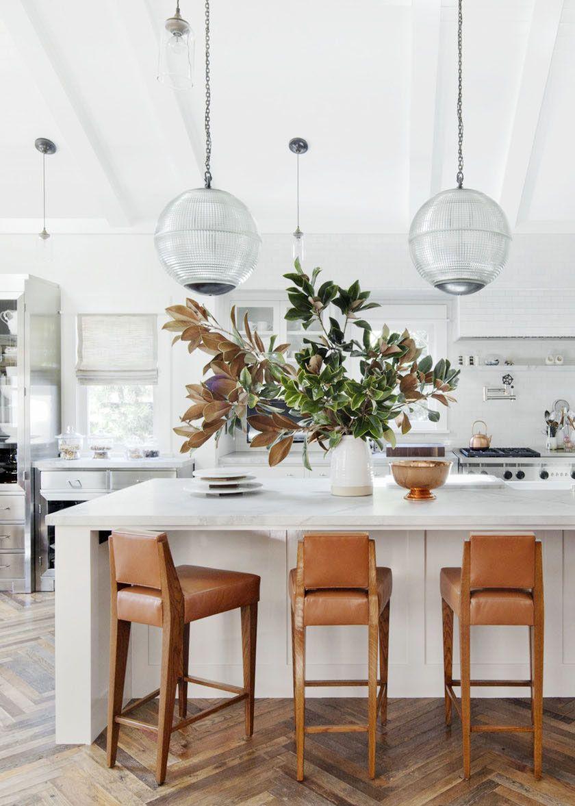 New White Stools for Kitchen