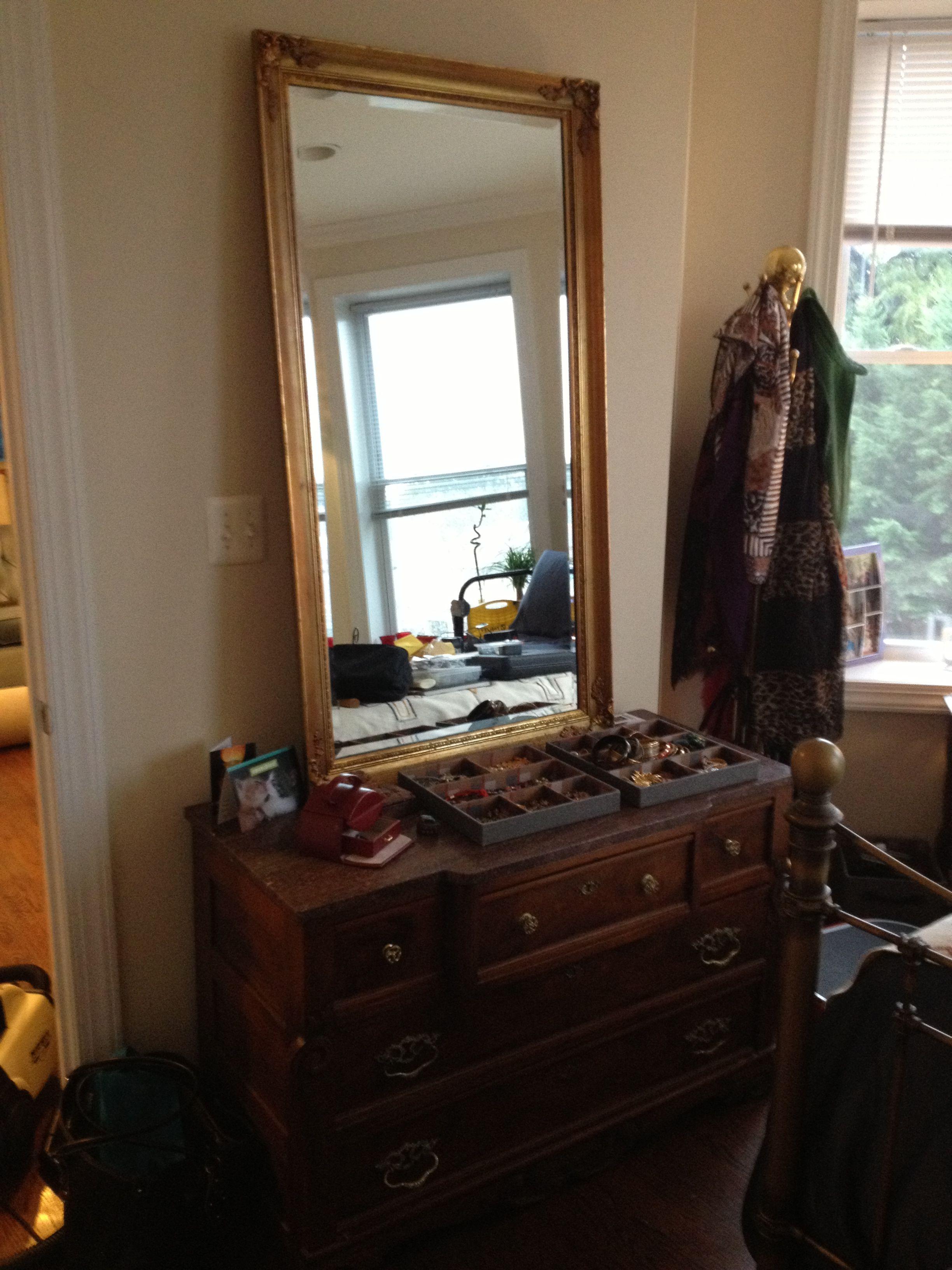 Victorian Marble Top Dresser Craigslist For 90 Large Gilt Mirror Craigslist For 60 Vintage Brass Coatrack Craig Vintage Furniture Home Decor Furniture