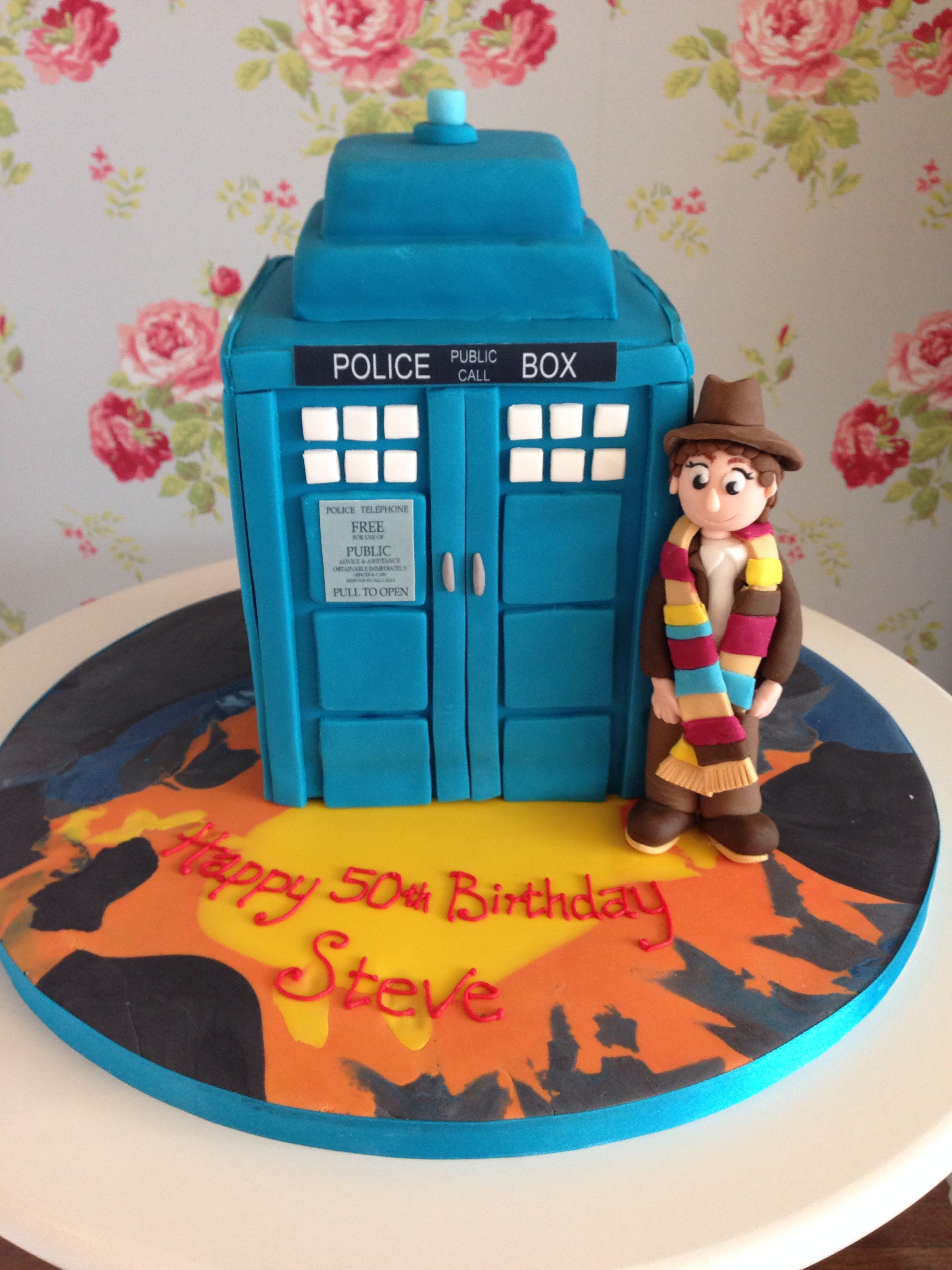 Groovy Doctor Who Cake Tom Baker Doctor Who Cakes Baker Cake Fancy Cakes Funny Birthday Cards Online Inifofree Goldxyz