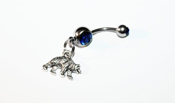 Bear Belly Button Ring Woodland Navel Ring Animal Jewelry Belly