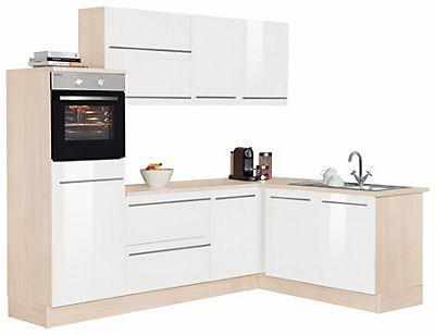 Optifit Winkelküche mit E-Geräten »Bern«, Stellbreite 255 x 175 cm