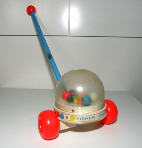 Vintage 1963 Fisher Price Corn Popper Push Toy 788