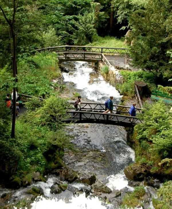 Gorgeous Waterfall Walkway in Switzerland   Wave Avenue