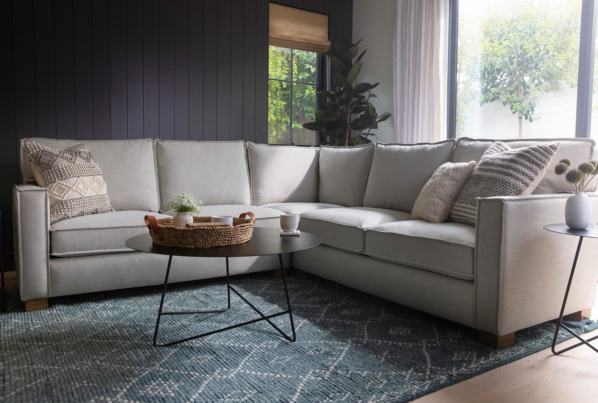 Accent Pillow Magnolia Home Knotted Stripes Grey 22x22 By Joanna Gaines Magnolia Homes Sectional Sofa Magnolia Home Decor [ 1288 x 1911 Pixel ]