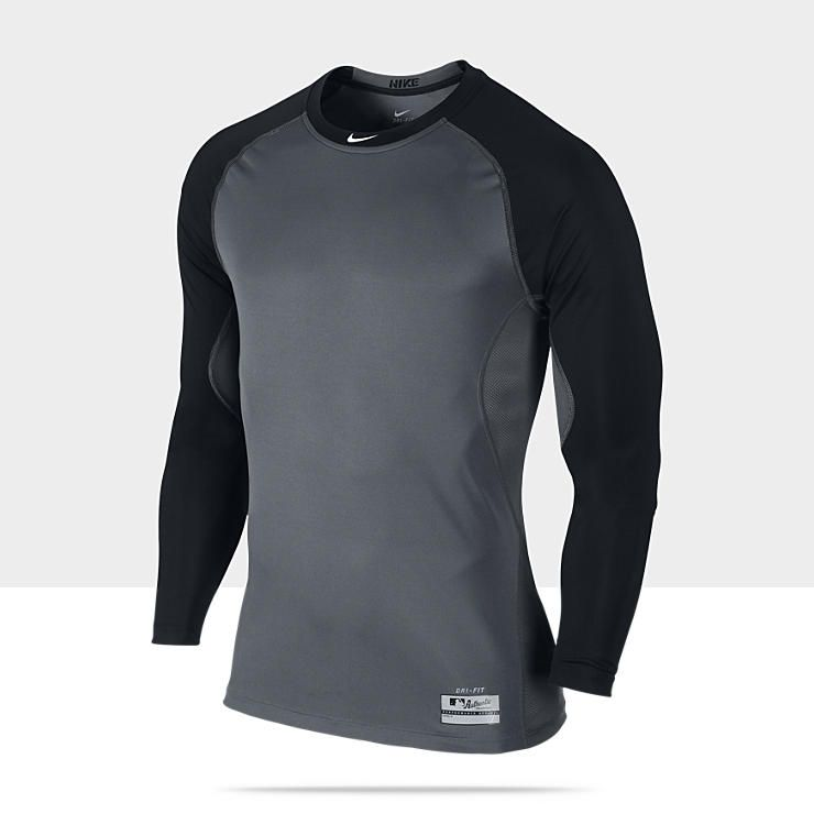 1376f3e34 Nike Pro Combat Core Fitted Raglan 1.2 Long-Sleeve Men s Baseball Shirt