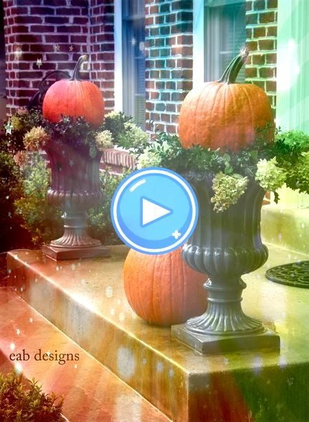 fall planters from stone ceramic plastic planters I love the idea of also using a galvanized bucket or tub filled with Fall mums cabbage or pumpkinsFavorite fall planters...