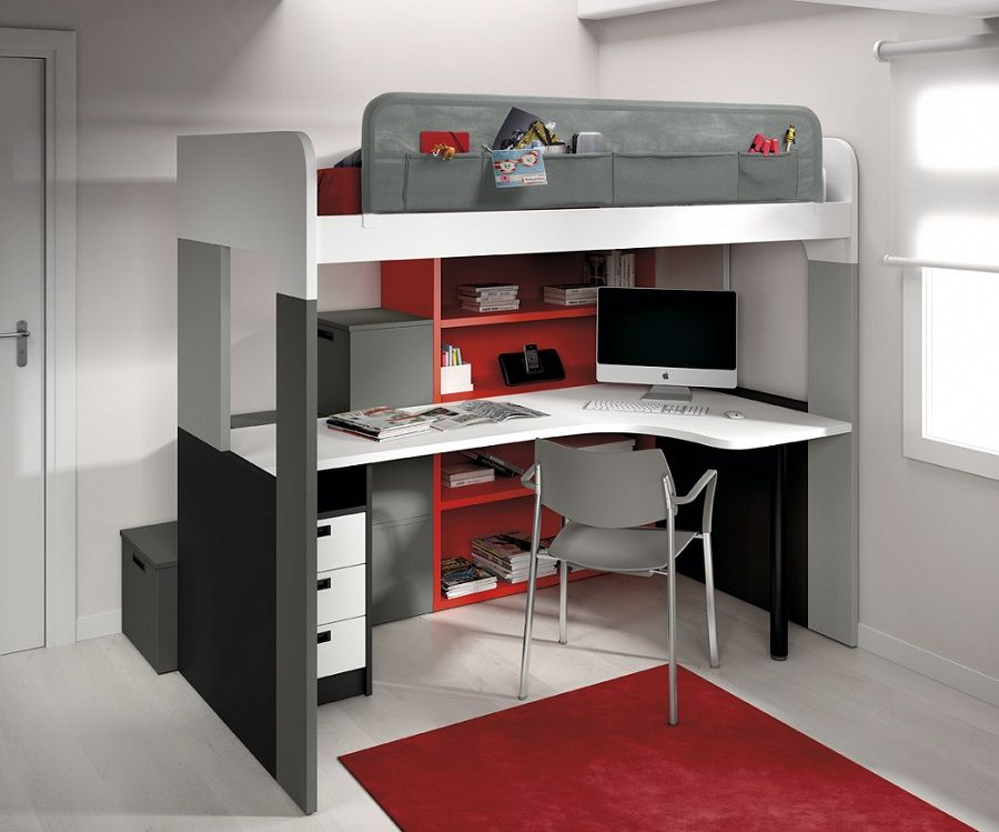 Lit mezzanine modular furniture pinterest - Lit mezzanine modulo ...