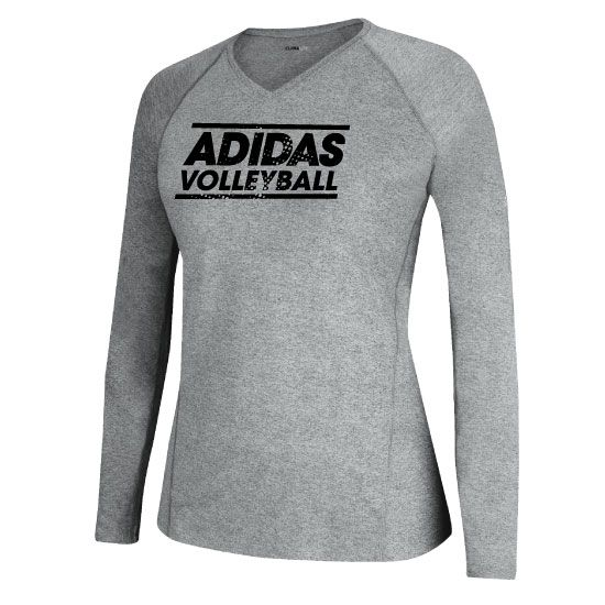 Adidas Women S Volleyball Long Sleeve Grey Tech T Shirt Adidas Women Women Volleyball Volleyball Outfits