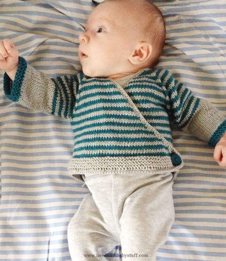 Baby Knitting Patterns Free Knitting Pattern For Easy Striped Baby