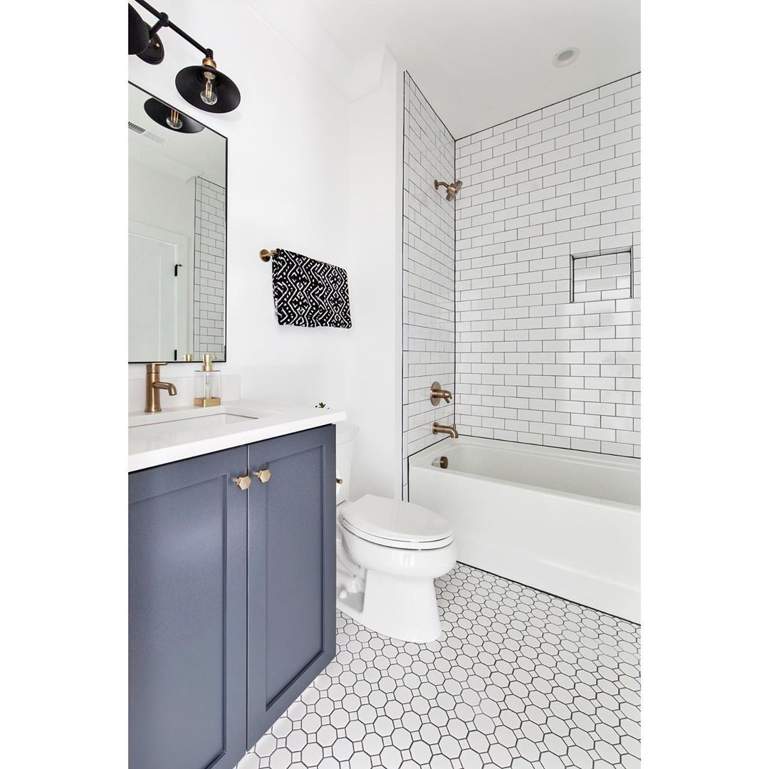 "Photo of Chelsea Building Group on Instagram: ""The epitome of a farmhouse bathroom: white subway & …"
