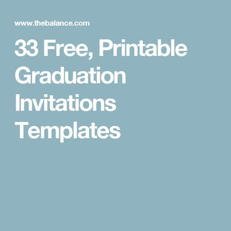 Save Money with These Free, Printable Graduation Invitations | Free ...