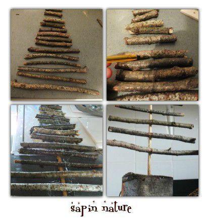 TUTO DIY Faire un sapin 2 \u2013 sapin récup \u2013 structure inspiration nature