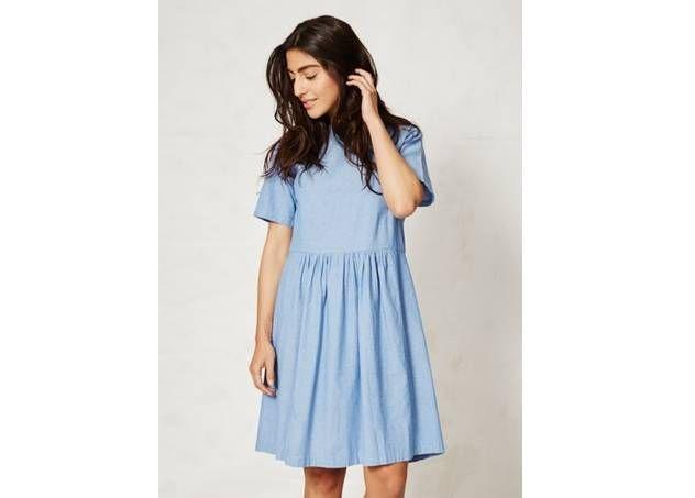 Licht Blauwe Jurk : Lichtblauwe jurk in biokatoen van braintree clothing www.legoutde