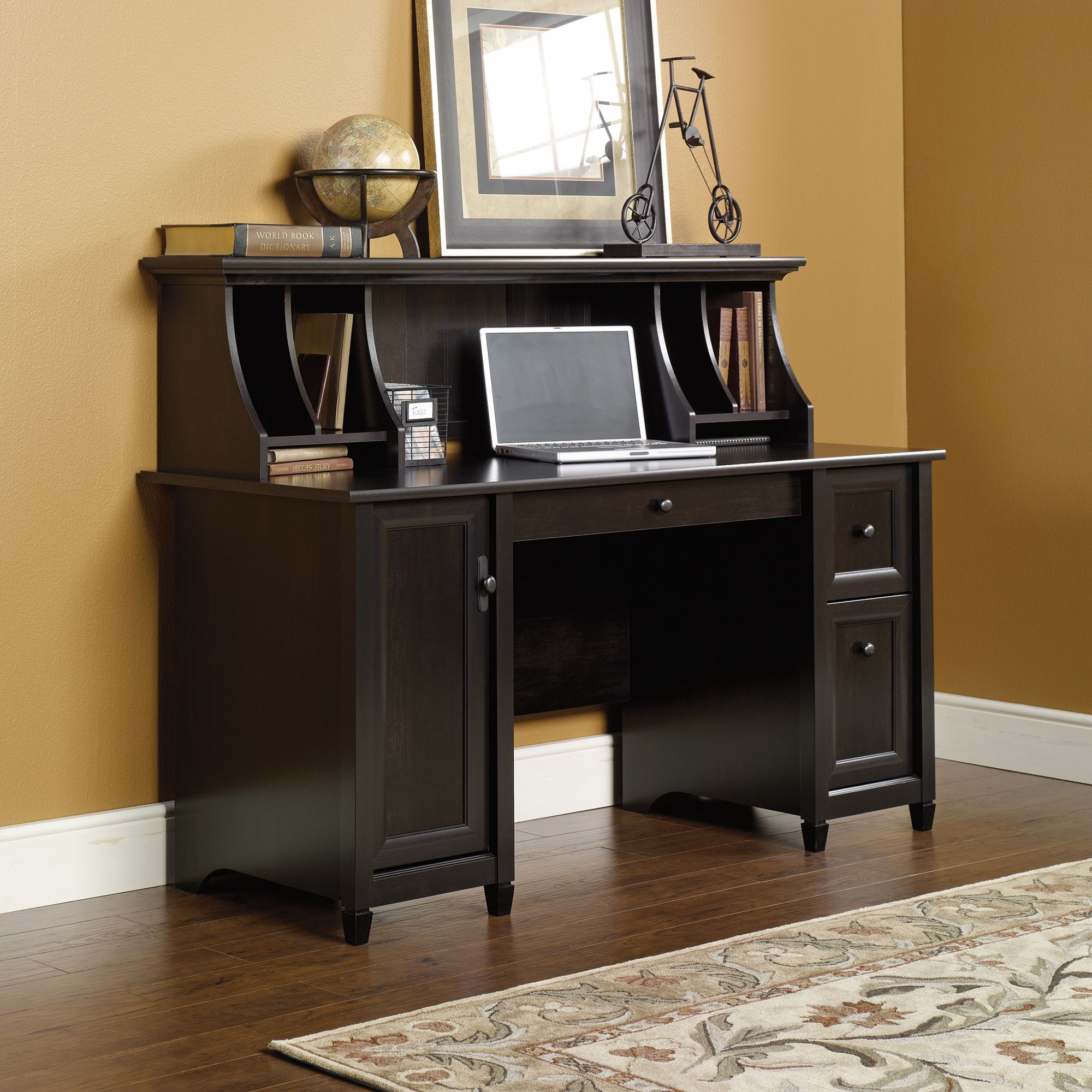 furniture single small optional desk cfm eagle coastal pedestal product customizable hutch with master hayneedle computer