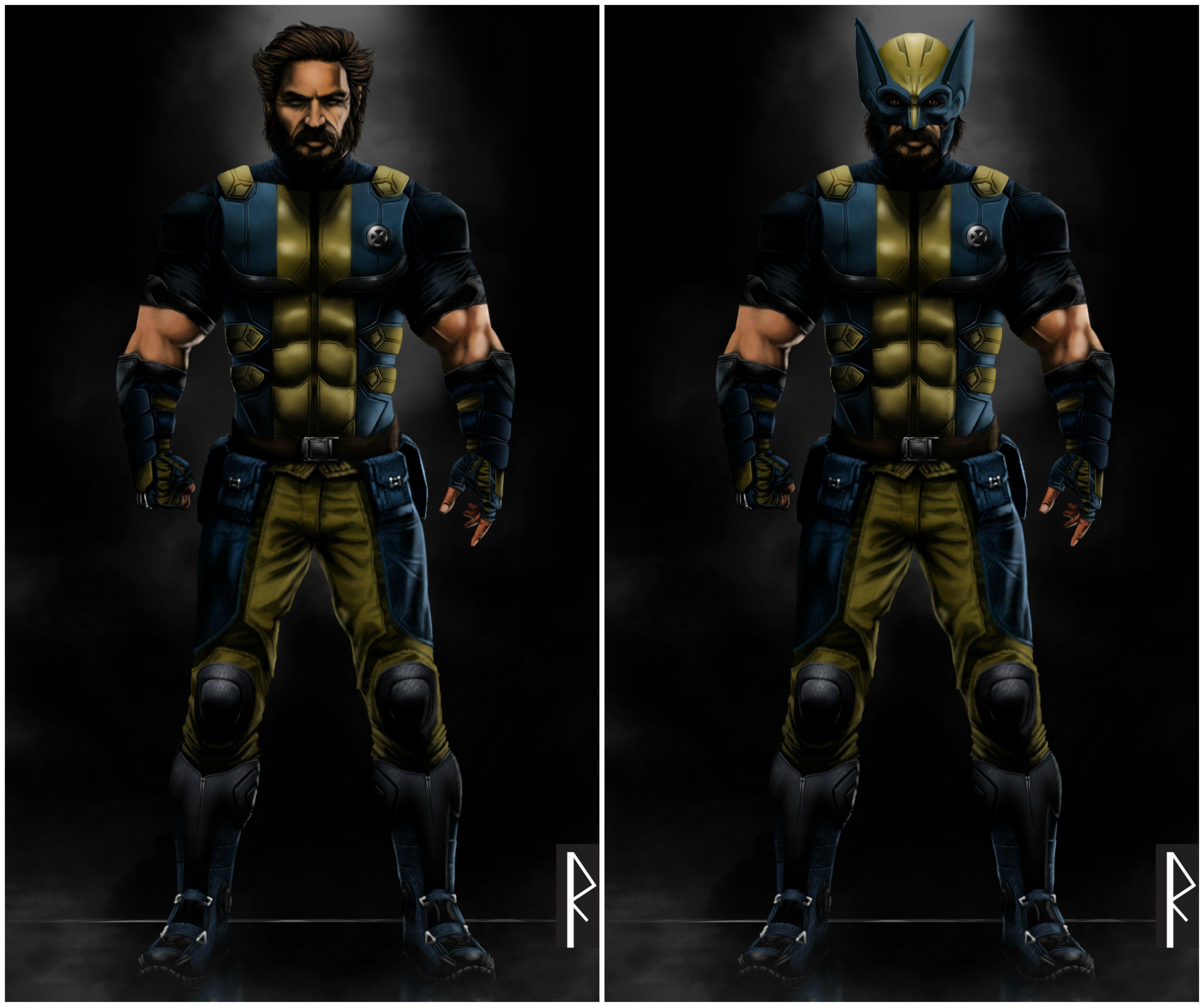 Tom Hardy As Mcu Wolverine Concept Art Wolverine Marvel
