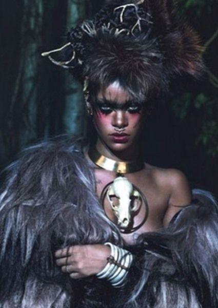 Rihanna's Shocking New 'W' Photos Evoke Witch Doctor Chic (see!)