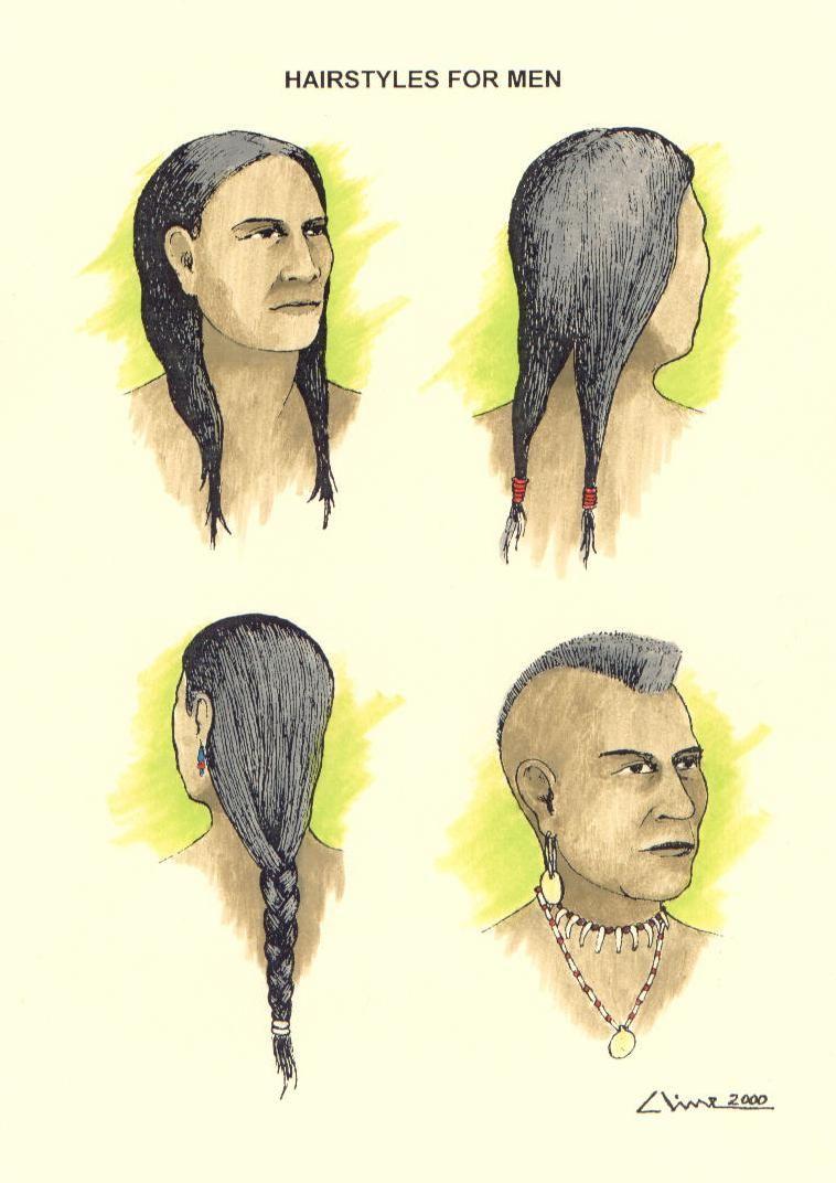 Native American Men Hairstyles : native, american, hairstyles, Native, Americans