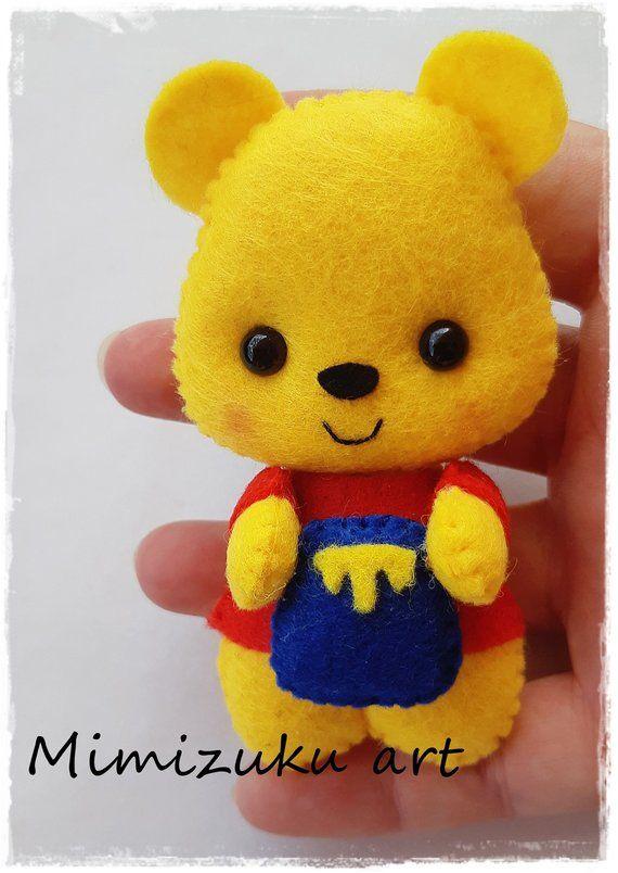 Winnie the pooh mobile, felt crib mobile, babyroomdecor, filz mobile,Móvil inspirado en Winnie de Pooh, Tigger, Piglet, Eegore, mimizuku art #feltcreations