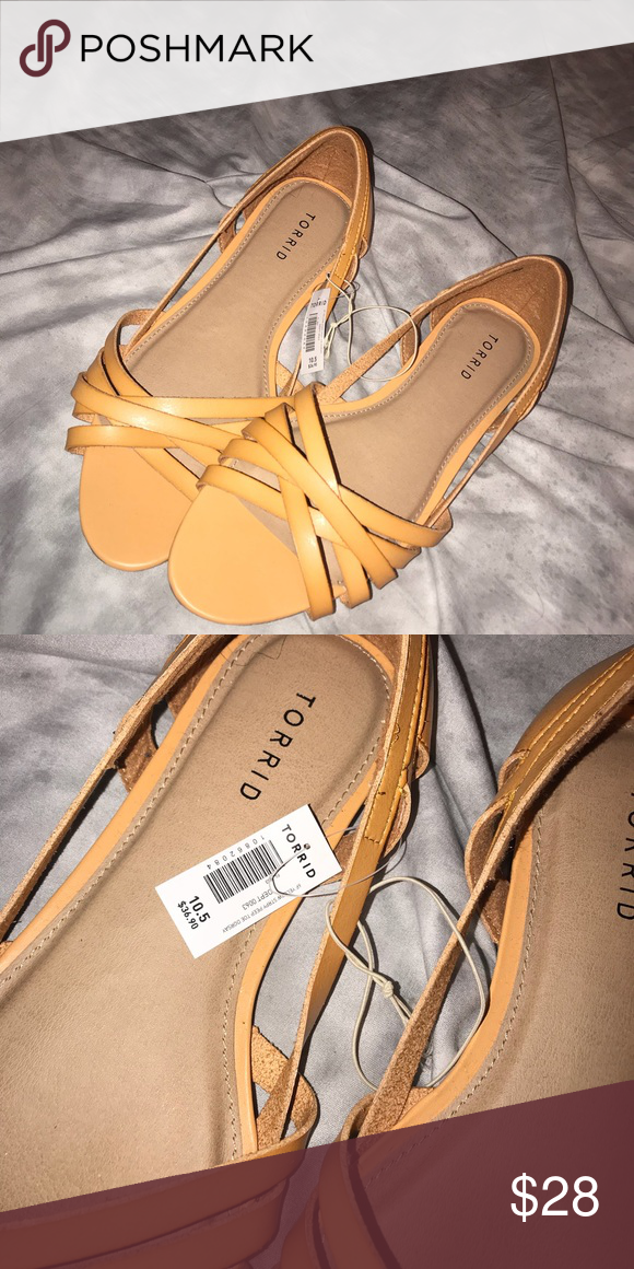 Torrid strappy peep toe sandals