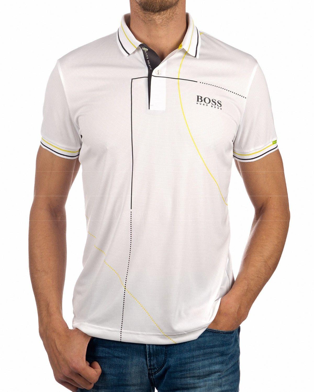 01d35f6d3 Hugo Boss Polo shirt White Paddy Martin Kaymer in 2019 | Shirts ...
