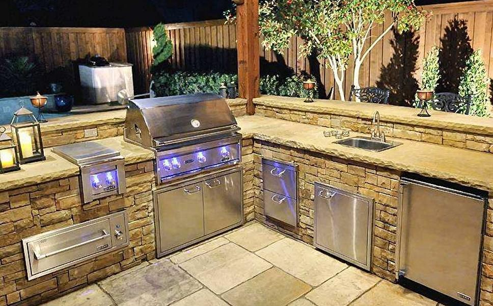 Custom bbq grills texas pool finders outdoors for custom for Outdoor kitchen barbecue grills