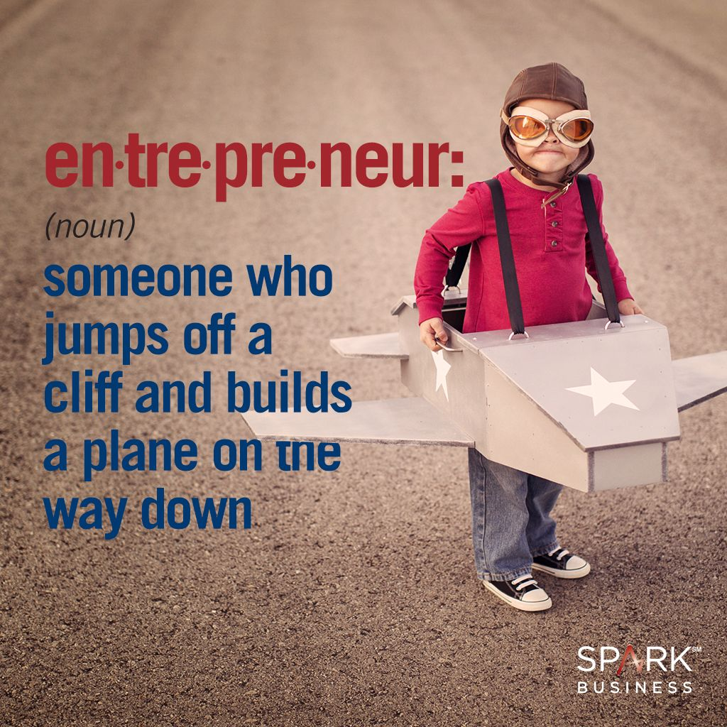 An entrepreneur is someone who jumps off a cliff & builds