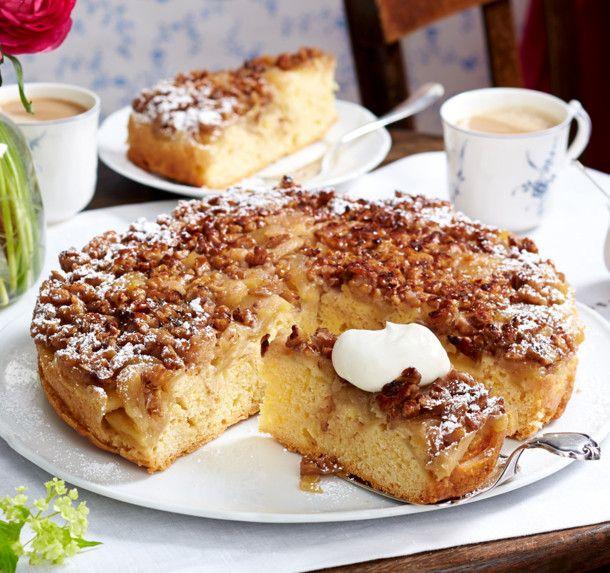 Unser beliebtes Rezept für Apfelkuchen mit Walnusskaramell und mehr als 55.000 weitere kostenlose Rezepte auf LECKER.de.
