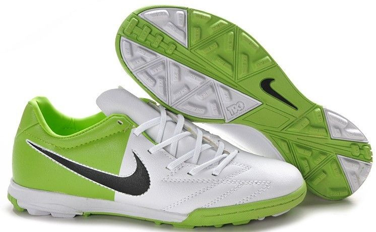 promo code d2824 cad9a Nike Total 90 Shoot IV TF Mens Astro Turf Soccer Shoes(White Green Black)